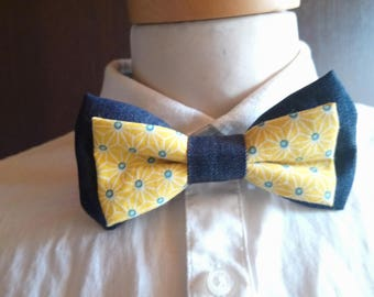 Bow tie men - organic - organic cotton is hand - made in France - gift for him - Green