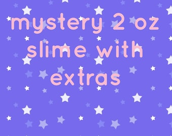 mystery 2 oz slime with extras