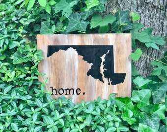 State Outline Sign, Home Sign, State Sign, Wooden Sign, Chalkboard Sign, State Decor, Home Decor