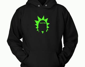 Rick And Morty Hoodie ( All Sizes ) - Rick & Morty SweatShirt – Awesome Rick and Morty Gift - Funny Rick and Morty Hoodie  - Rick Sanchez
