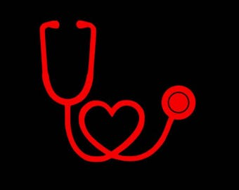 Stethoscope Decal, Stethoscope Heart Decal, Nurse Decal, Water Bottle Decal, Vinyl Sticker, doctor gift, medical decal