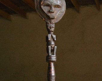 Antique African Relique, Wooden Totem or Dance mask