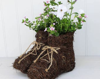 Walking Boots Planter, Boot Compost Holder Home Decor