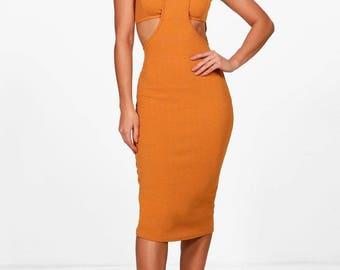 Antoinette Cut Out Detail Midi Dress