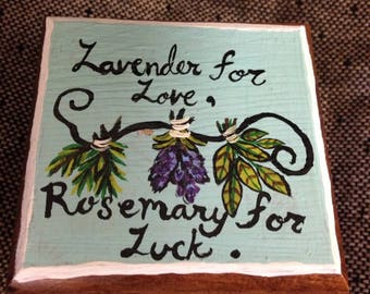 Lavender for Love, Rosemary for Luck Herbal Trinket Box