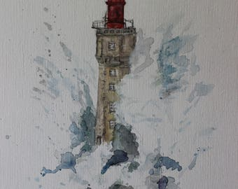 Old Red Lighthouse 9 x 12