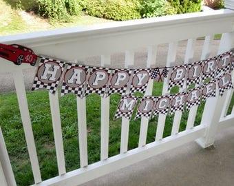 Custom Camaro Birthday Banner, Personalized Birthday Banner, Personalized Race Car Banner, Camaro Birthday Banner, Race Car Birthday Banner