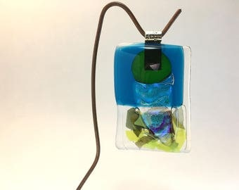 Fused Glass Ornament (Cornucopia)