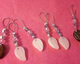 Set of stitch markers - leaves (6)