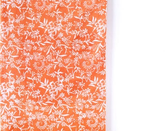 orange floral batik decorative pillow cover | cushion cover | pillow sham | throw pillow cover