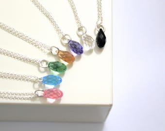 Crystal Necklace, Necklaces For Women, Dainty Necklace, Drop Necklace, Swarovski Necklace, Crystal Jewelry, Silver Necklace, Gift For Her