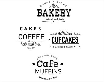Business Window Decals - Shop Window Vinyl Graphics - Store Hours - Company Logo - Coffe Shop - Hair Salon - Bakery - Barber Shop - Custom