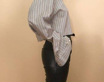 Plaid oversized menswear shirt L