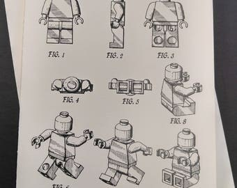 Lego Man Greeting Card