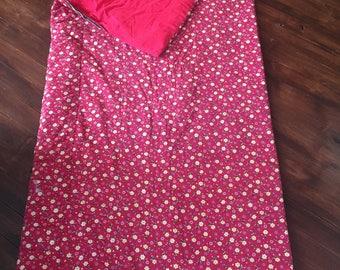 Vintage Red Floral Sleeping Bag