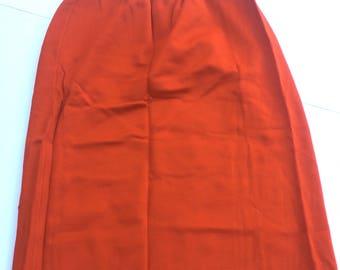 Vintage 70s burnt orange skirt with elastic waist