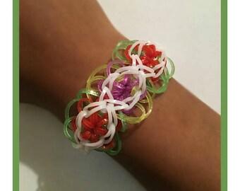 Rainbow Loom Flower Bloom Bracelet