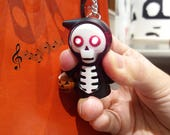 Skeleton Key Chain with LED and Sound, Halloween Key Chain, Keyring Spooky Halloween Key Chain - LIMITED EDITION
