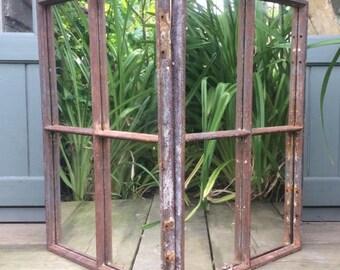Reclaimed Industrial Steampunk Mirror