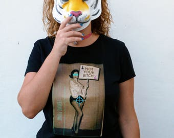 ECO feminist shirt - organic cotton - t-shirt feminist - organic cotton - Not your dog.