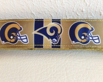 Blue and Gold Dog Leash, Rams Leash, Rams Dog Leash Leash, Heavy Duty Leash, Dog Leash