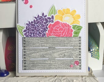 Get Well Card with Flowers