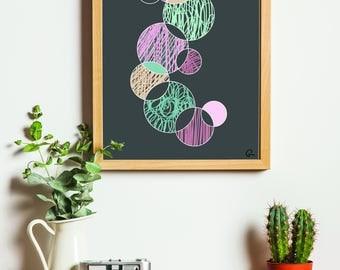 Circles - Printable Artwork, Digital Art