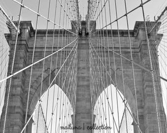 Brooklyn Bridge Matted Print -  New York - Wall Art - Brooklyn Bridge Photo - Wall Decor - Home Decor - Matted Photo - NYC