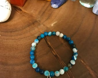 Blue Lace Agate Ankh