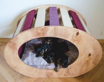 Dog Bed / Pet Bed / Cat Bed / Modern wooden pet furniture - Funky 2.o / SALE -20%