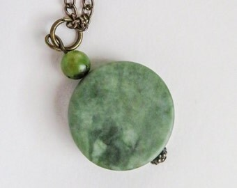 Green Marble Stone Necklace