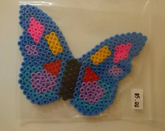 Perler Bead Butterfly Magnet