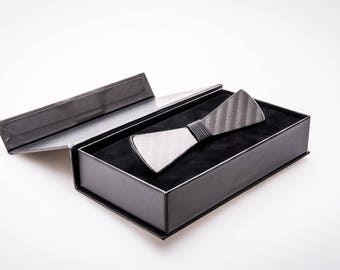 Carbon Fiber Bow Tie (Model No: 1003) (premium glossy black finish)