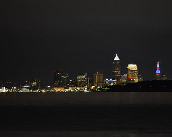 Downtown Cleveland Ohio at night