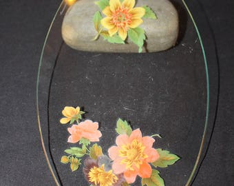 Vintage Chance Glass Oval Plate