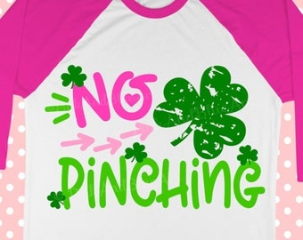 No Pinching SVG - St Patricks Day Svg - Shamrock svg - Distressed svg - Distressed shamrock - Saint Patricks SVG - svg, dxf, pdf, png, eps