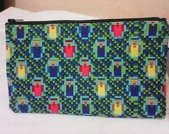 school fabric minecraft, zippered bag Kit