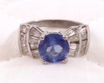 Sterling silver faux gemstone costume ring