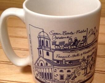 Pfaltzgraff Hart Design Studio Boston , Mass Scenes  Coffee Mug Vintage 1989