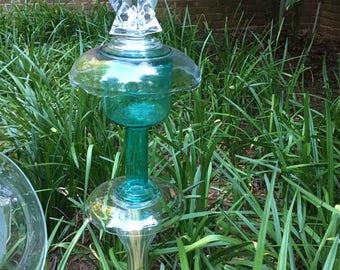 Turquoise garden totem