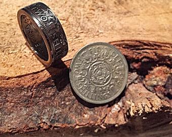 Ring 2 piece British shillings (corner ring)