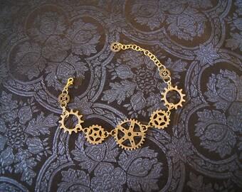 Steampunk bracelet in Brass