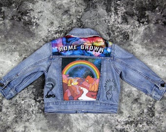 Toddler 12-18mo Denim Jean Jacket | FREE INTERNATIONAL SHIPPING | Vintage Inspired Cosmic Children of The Universe