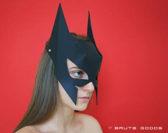 Leather Batman Mask