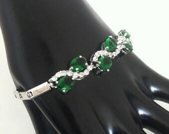 Green Emerald Crystal Bracelet