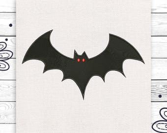 Bat embroidery Spooky Halloween Discount 10% Embroidery design 4 sizes INSTANT DOWNLOAD EE5029