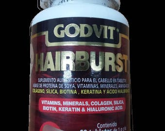 Hairburst 6 1 g tablets.  Godvit - vitamins for hair.