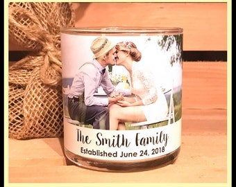 Custom Photo Candle Personalized Photo Candle Wedding Candle Photo Soy Candle Gift Picture Candle Custom Gift Custom Photo Candle Soy