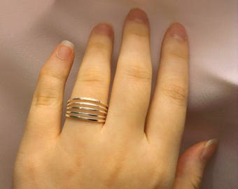 Silver Band Ring ~ Wide Band Ring