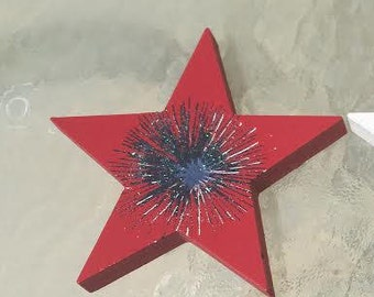 3 in the Set: Red, White & Blue Patriotic Stars